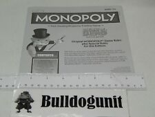 2013 Walking Dead Survival Monopoly Board Game Instructions Only