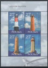 Poland 2006 Lighthouses Sheetlet With (x4) Stamps Mint (Id:487/D55577)
