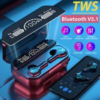 Bluetooth 5.1 Earbuds Wireless Earphone IPX7WaterProof Stereo for iPhone Samsung