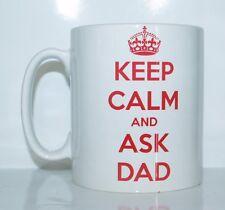 KEEP CALM AND ASK DAD Novelty Printed Mug Ideal Birthday/Christmas Gift/Present