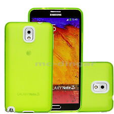 Clear Green UltraThin Soft Rubber PC Bumper Case Cover For Samsung Galaxy Note3
