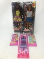 Lot Of 2 Barbie *Fashionista* #20 & #32 + 3 Dress Sets SHIPS W/OUT PACKAGING