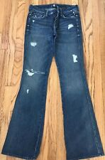 "SEVEN 7 for all Mankind ""A"" Pocket Wide Leg Distressed Women's Jeans Size 28"