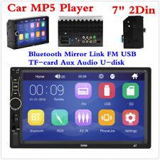 Car Bluetooth Audio Stereo MP5 Player 7inch 2 Din HD FM Radio Multimedia Display