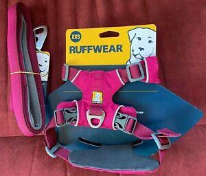 Pink Ruffwear Adjustable Fit Harness & Matching Lead Set Unisex Easy On Off XXS