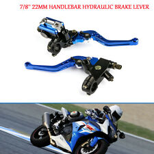 Motorcycle Adjustable 7/8'' 22mm Handlebar Hydraulic Brake Lever Cylinder Clutch