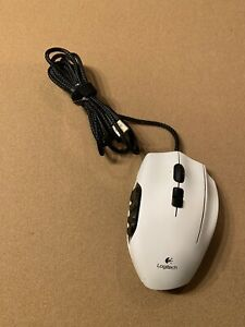 Logitech - G600 MMO Wired Optical Gaming Mouse - White (Working Or For Parts)
