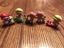 5 Vintage Strawberry Shortcake~Apple Dumplin,Cherry Cuddler&Apricot Mini Figures