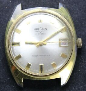 Vulcain 17j 40mm Date Mens Wrist Watch - Vintage - Runs