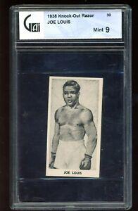 1938 Knock-Out Razor #30 Joe Louis GA 9