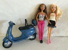 My Scene Madison & Chelsea Dolls & My Scene Blue Scooter