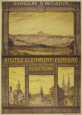 VISITEZ CLERMONT -  FERRAND AUVERGNE Vintage French Travel Poster. 250gsm Print