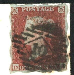 GB Superb *TREASURY ROULETTE* 1d Red Cover 1852 EXHIBITION QUALITY (RPS Cert) 1d