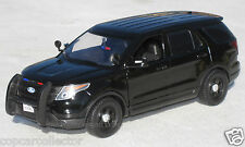 Motormax 1/24 2015 Ford PI Utility Police SUV - Blank Black SLICKTOP  76963