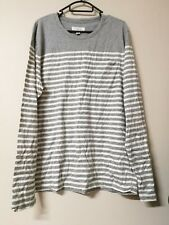 BNWT Country Road womens ladies grey cotton LS stripe tee t-shirt top szM RRP$79