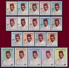 1968 MAROC N°534/552**  série courante Roi Hassan II, 1968 MOROCCO Set MNH