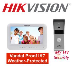 Hikvision DS-KIS203 Video Door Phone Waterproof Vandal Pinhole Camera Intercom