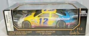 Racing Champions 1:24 1995 Diecast Car BANK #12 Derrike Cope Mane N' Tail Ford