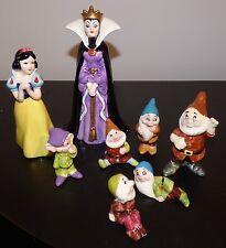 Walt Disney Snow White And The Seven Dwarfs Vintage Disneyland Figurine Set Of 8