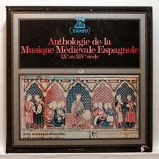 GREGORIO PANIAGUA, ATRIUM MUSICAE - SPANISH MEDIEVAL MUSIC - ERATO 5xLPs box EX