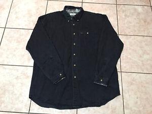 LL Bean Button Down Long Sleeve Pocket Work Shirt Size XL Reg Mens