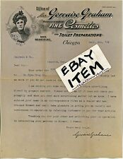 1905 Mrs GERVAISE GRAHAM Chicago ILLinois COSMETICS letterhead 1301 Michigan Ave