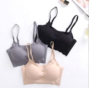 NEW! Womens Seamless Sports Yoga Bra Crop Top Vest Comfort Stretch Bras Padded