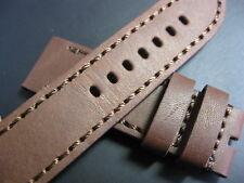 24 mm Regia Brown Genuine Italian Leather Watch Strap! band belt brass bronzo
