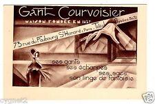 POSTCARD FRENCH GANT COURVOISIER GLOVES SCARVES PARIS ART DECO
