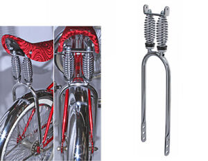 """Dragster Lowrider Bicycle Dual Suspension Sissy Bar 20"""" Chrome"""