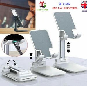 UK Mobile Phone Holder Stand Desktop Table Desk Mount For iPhone iPad Portable