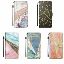 3D Painted Marble Card Wallet Case Covers For iPhone 11 12 Pro Max 6 7 8 X XR XS