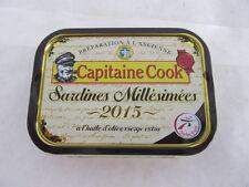 Jahrgang 2015 Sardinen in Olivenöl aus Frankreich, Gesamtgewicht 115g / ATG 87g