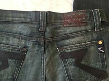 ROCK AND REPUBLIC JEANS SIZE 34 BROWN LEATHER LOGO MEN'S