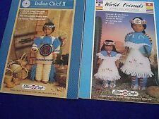 Vintage 80S Craft World Friends Crochet Native American Indians Patterns