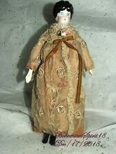 ANTIQUE SIGNED GERMANY CHINA /PORCELAIN HEAD ARMS AND LEGS LACE DRESS DOLL