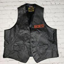 Vintage American Craftsman Leather Motorcycle Vest  L