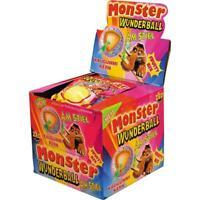 Monster Wunderball Fruity Mix Lutscher mit Kaugummi Kern 15x80 g Stück