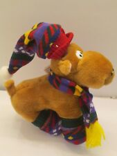 "Christmas Follies Reindeer Plush with Hat Scarf and Socks 13"" 1995"