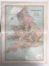 More details for england and wales, 1874 original antique map, bartholomew, philip, atlas
