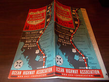 1941 Ocean Highway New York to Florida Vintage Guide and Map