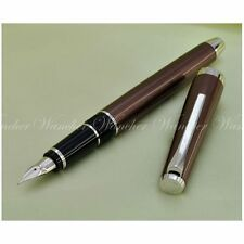 "PILOT NAMIKI FALCON ""ELABO"" FE-25SR STYLO PLUME FLEXIBLE 14K BROWN FOUNTAIN PEN"