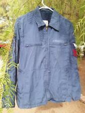 Vintage Navy Military Vanderbilt Utility Jacket poly/cotton Navy patch