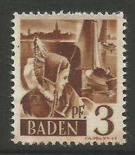 STAMPS-FRENCH ZONE 1947. 3pf Brown. Printed on Gummed Side. SG: FB2 variety.