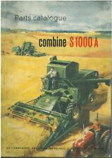 Bolinder Munktell Combine S1000A Parts Manual