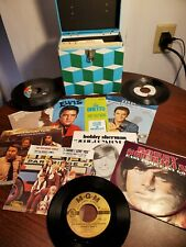 Vintage Amberg Platter Pak 45 w/ Elvis Picture Sleeve Records Apple Collection