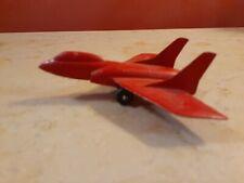 Vintage Metal Tootsietoy Red Military Navy Jet - Toy Plane