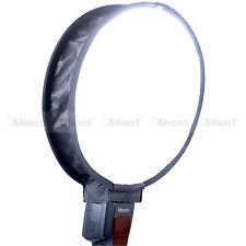 Easy-fold Round Mini Flash Softbox Diffuser Reflector for Canon Nissin Speedlite