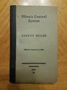 Vintage 1946 Illinois Central System Railroad Safety Rules Handbook Code Booklet