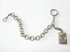 Taschenuhrenkette,Kompass,Vintage,Uhren,Kette,Pocket Watch,Chain,Silber Optik,47